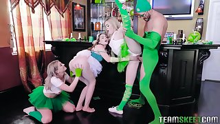 Hot mix of hot chicks, such as Demi Sutra, Evelin Stone and Kenzie Reeves