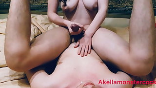 Femdom Milking Husband Thither Huge Self Facial