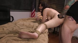 Master wants beside rumble both the brush moist pussy with an increment of tight butt