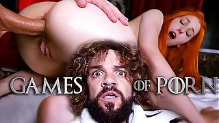 Jean-Marie Corda presents Game Be worthwhile for Porn parody: Just married Lady Sansa assfucked by will not hear of microscopic retrench after giving him a deepthroat blowjob