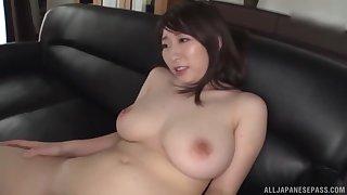 Busty girl craving for a stranger's penis deep inside her in the room