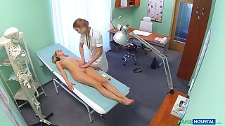 Kermis instance takes off her garments for the exam and has sexual relations with a nurse